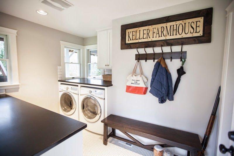 My Sweet Savannah: ~Keller Farmhouse~ · Farmhouse RemodelFarmhouse StyleMud  RoomsLaundry RoomsFarm HouseWall DecorDecorating IdeasLiving RoomSweets