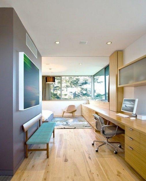 Stylish Californian Concrete Home With Abundant Wood Modern - wohnzimmer design steinwand