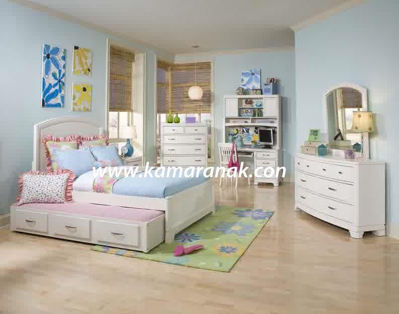 set kamar tidur anak perempuan minimalis sorong jual set