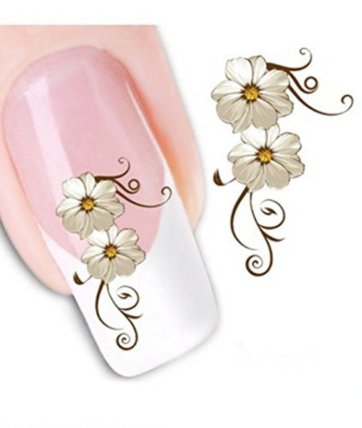 Generic Fashion Little Daisy Nail Art Stickers Decals Water Transfers Decals Sticker Beauty Nail Salon for Girls Nail Decoration Nail Salon *** Learn more by visiting the image link.