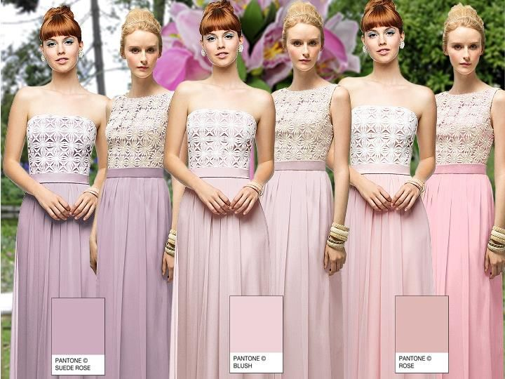 Pastel Daisy Lace Pantone Wedding Styleboard The Dessy Group