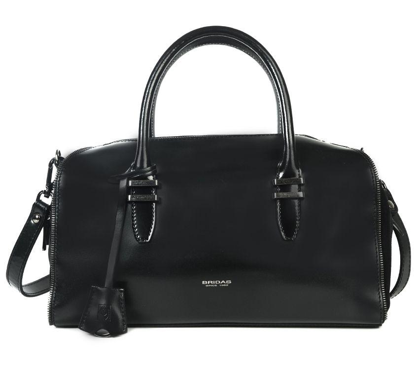 Bowling negro de piel #bolsodepiel #handbags #Bridas #Clenapal #FW14