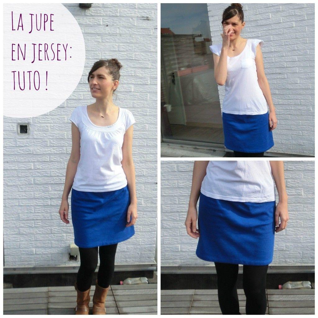 une jupe toute simple en jersey molletonn tuto couture chouettes id es pinterest. Black Bedroom Furniture Sets. Home Design Ideas