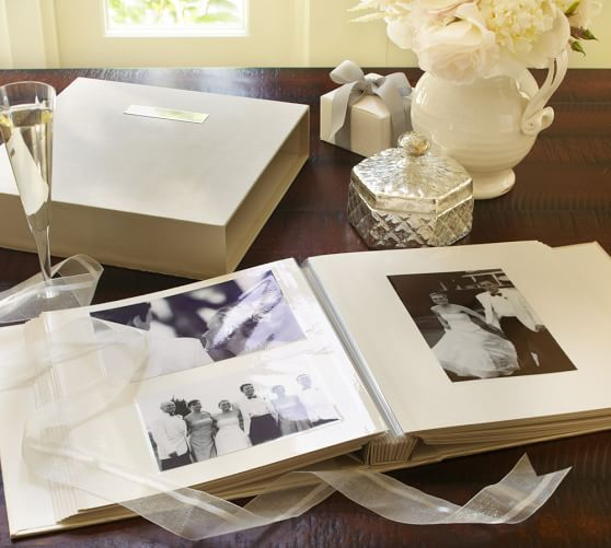 Engravable Wedding Album With Optional Personalization