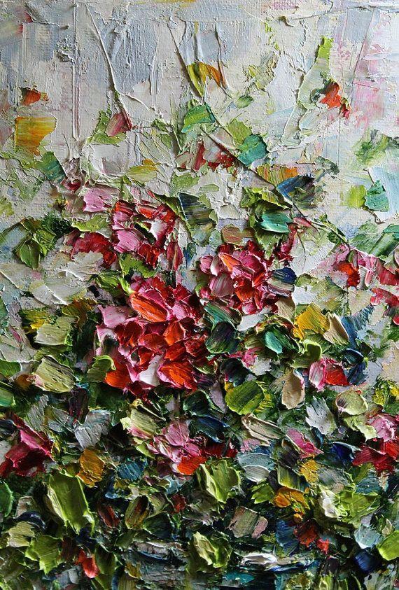 Original oil canvas impasto creative painting
