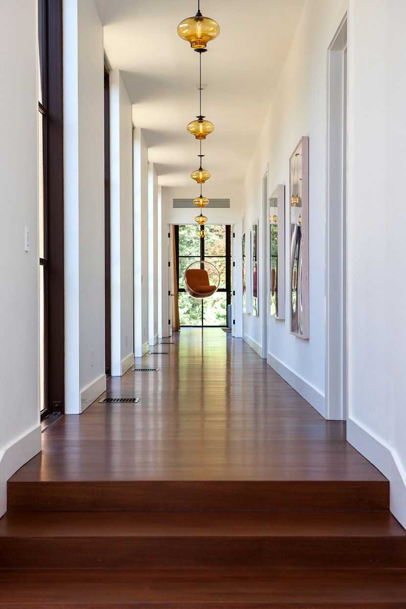niche modern lighting. Niche Modern Pendant Lighting In The Hallway Of A Long Island Home.