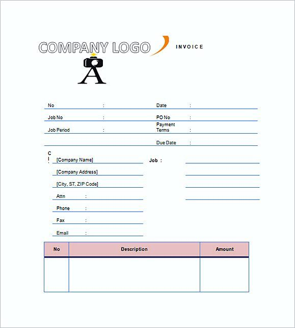Wedding Photography Invoice templates , Photography invoice - contractor invoice form