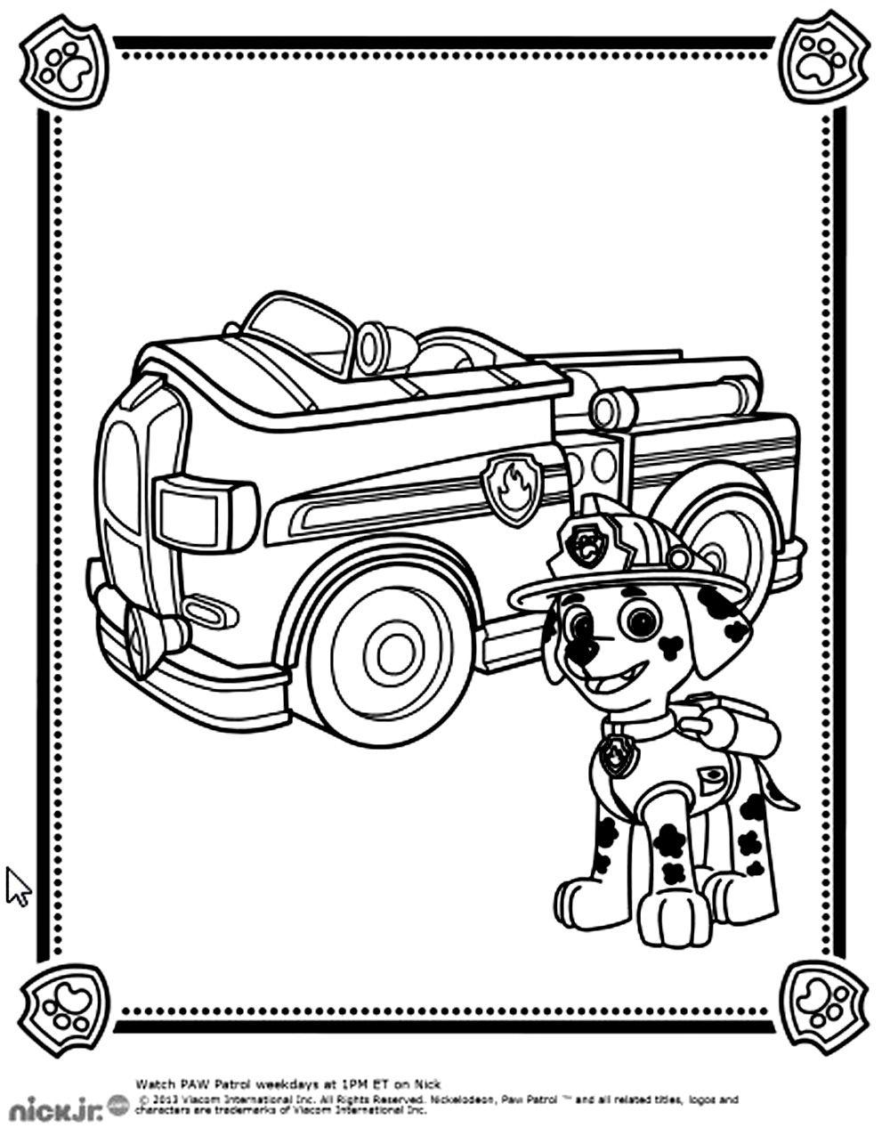 Pour imprimer ce coloriage gratuit coloriage pat patrouille marshall camion