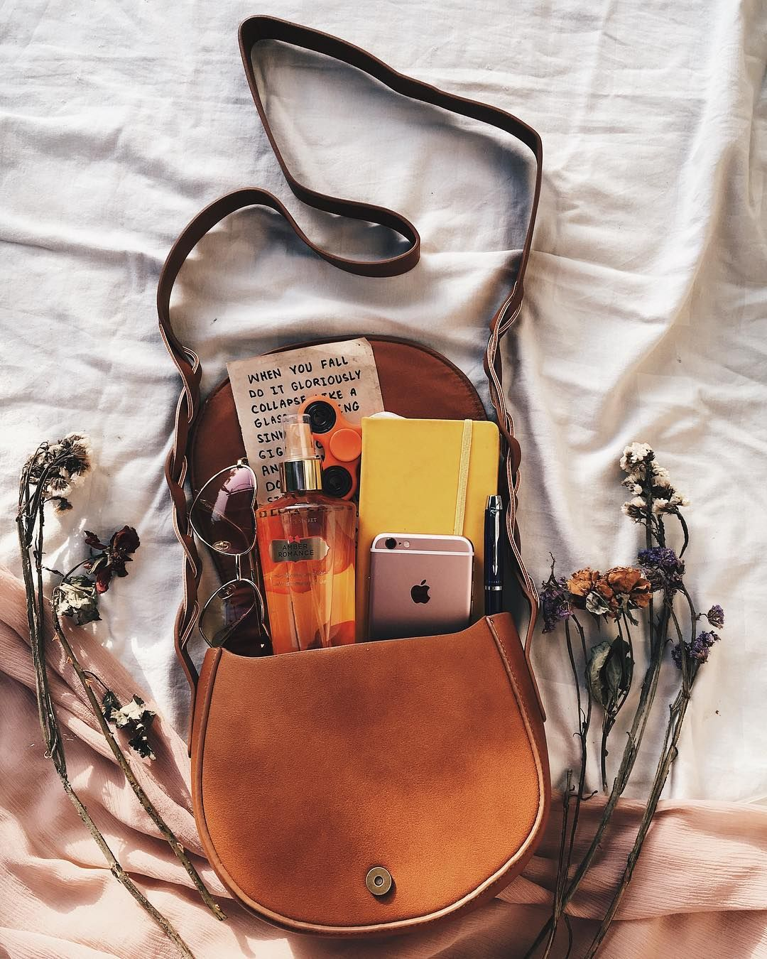 """4446b23d53c Noor Unnahar Siddique on Instagram  """"meet my bag essentials y all ✨     flatlay beige aesthetic tumblr indie pale hipsters aesthetic style fashion  bag ..."""