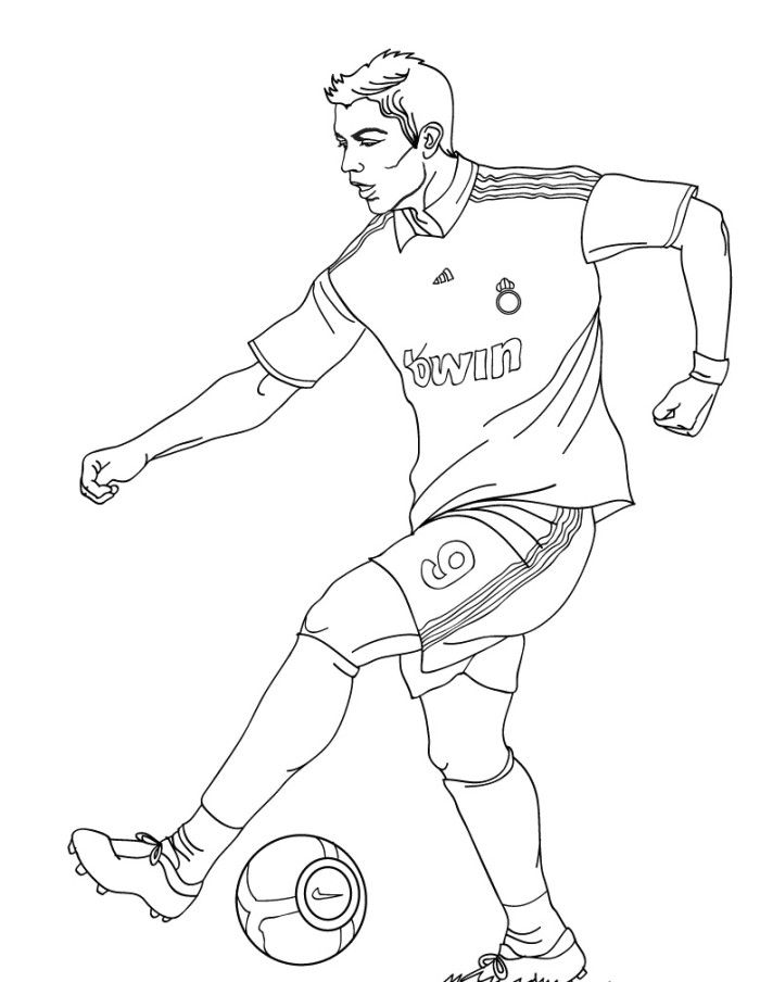 Cristiano Ronaldo Skill Coloring Pages - Football Coloring ...