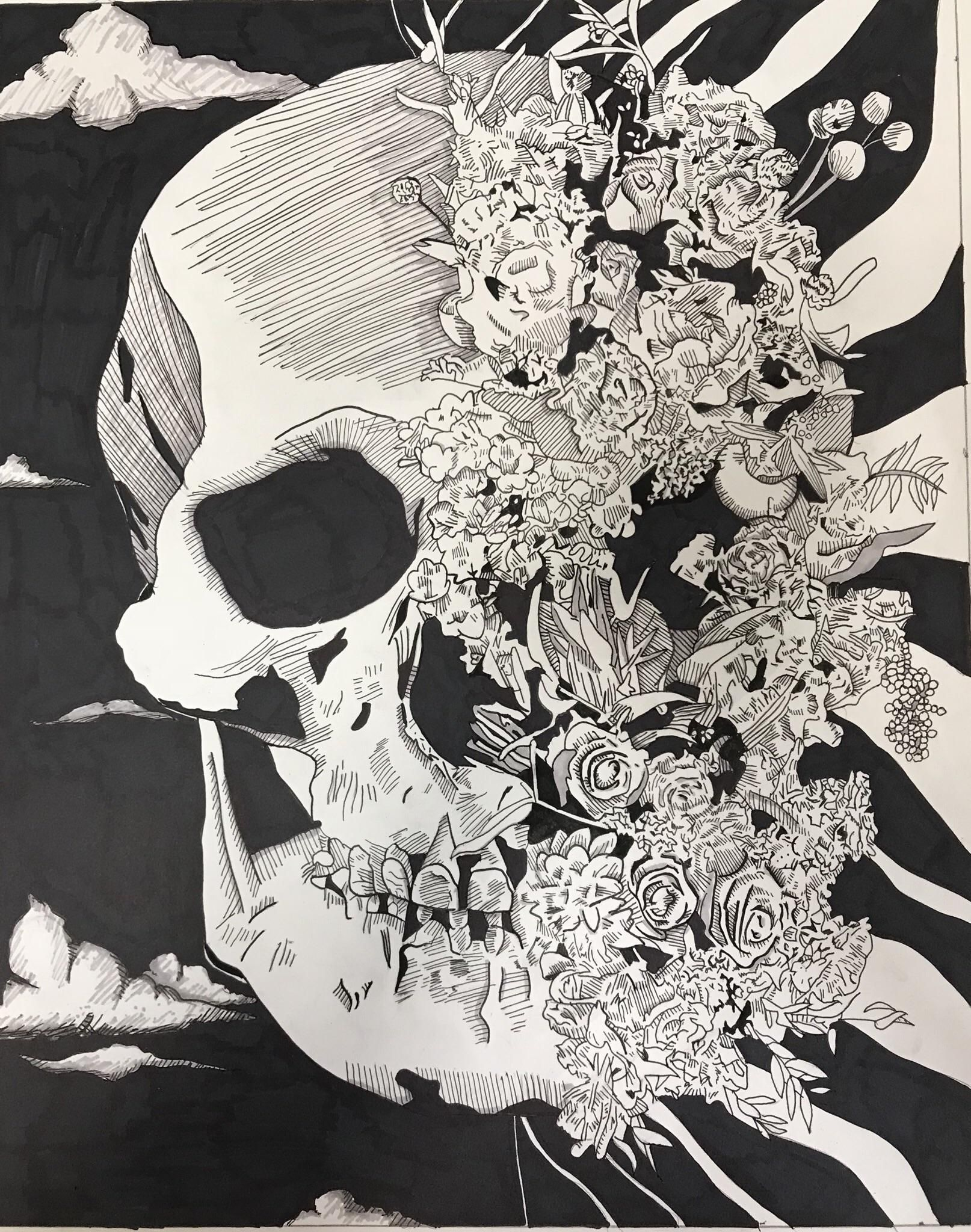 Life Death Made With Micron Pens Black Sharpie And Grey Marker