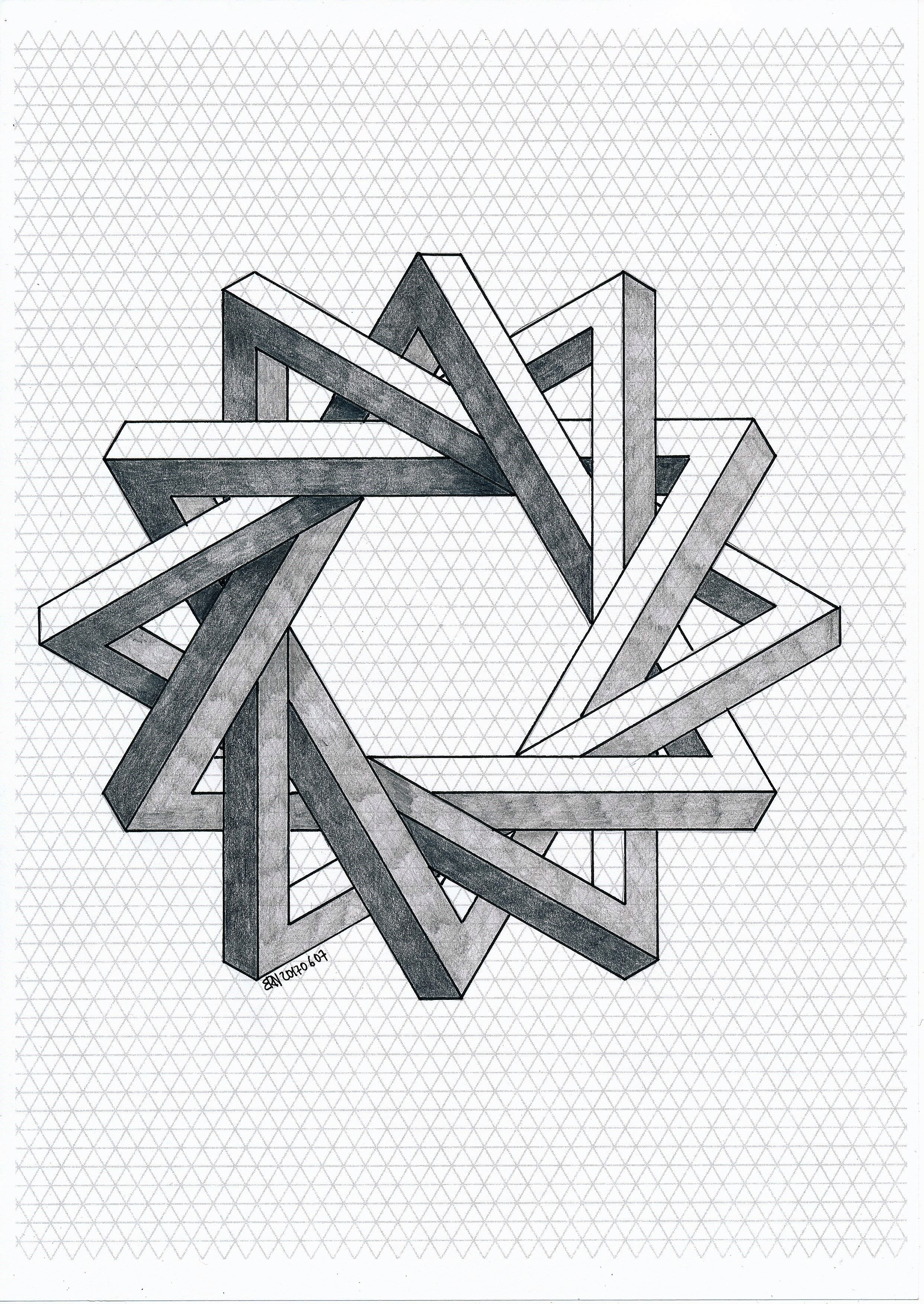#impossible #isometric #geometry #symmetry #pattern #