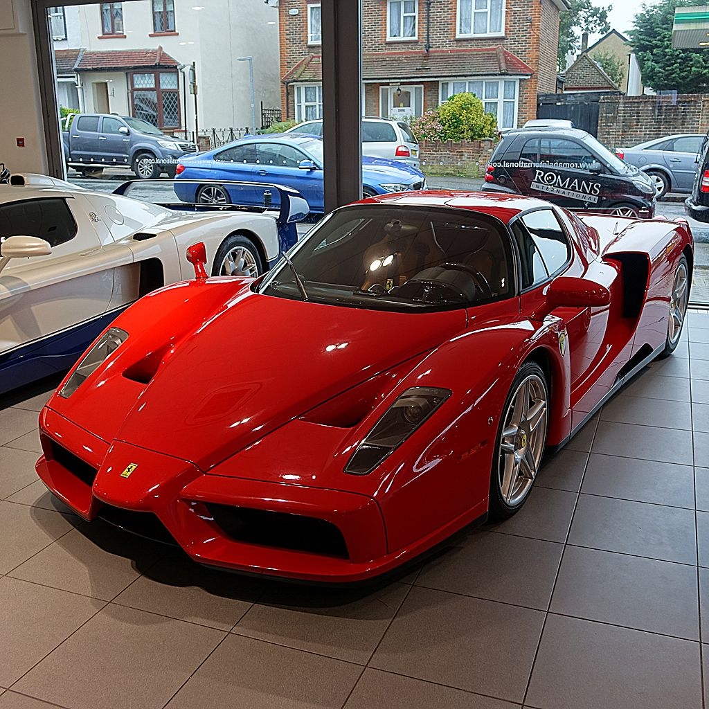 Delivery Ferrari Enzo At Romans International #Ferrari