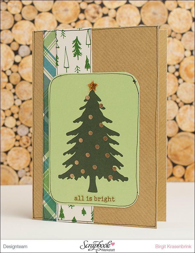 In Birgit´s Weihnachtskarten-Werkstatt {Teil 1}   Karte mit dem Dezember-Kit {Weihnachtszauber} der ScrapbookWerkstatt   SCRAP´ inFeACTed