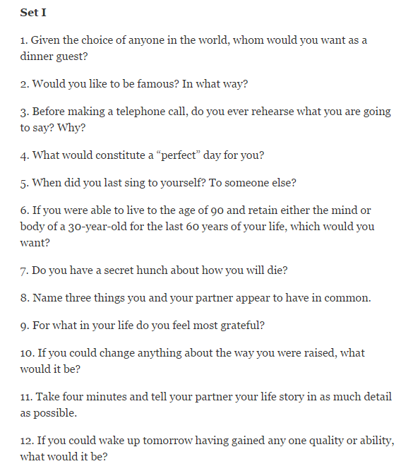 Dating Questions To Downgrade In Love