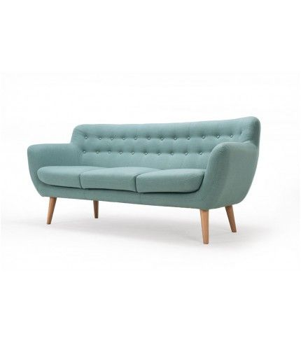 Anne, 3-seater sofa, Dina sage, Oak legs