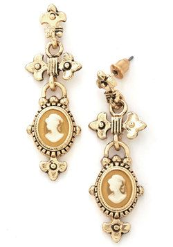 Cameo La La New Heirloom Earrings, #ModCloth
