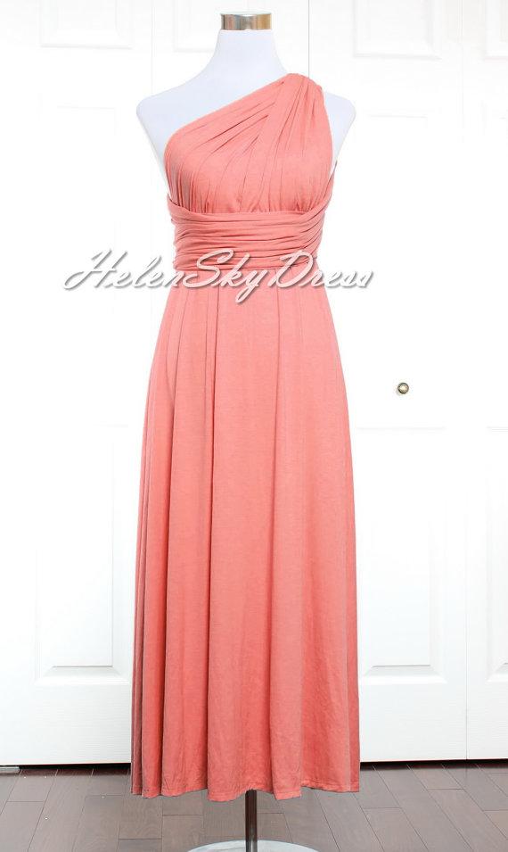 Brautjungfer Kleid Wassermelone Brautjungfer Kleid Infinity Kleid ...