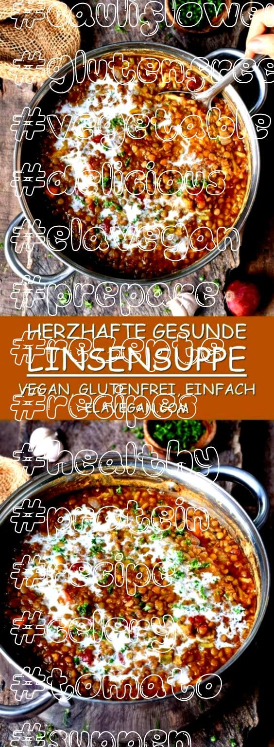 lentil soup with cauliflower carrot and celery The hearty stew is spicy full of taste and easy to prepare This delicious soup is also vegan glutenfree high in protein and...