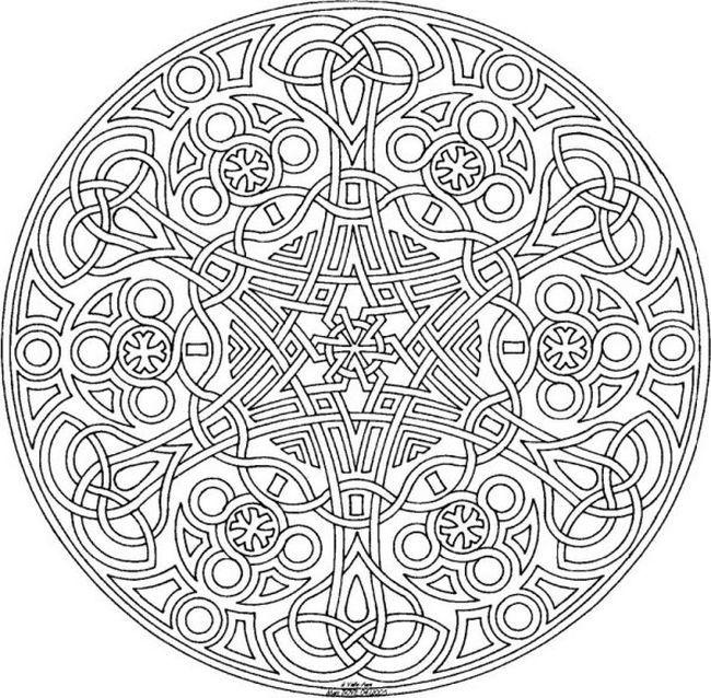 ausmalbilder mandala für erwachsene 08 … | Pinteres…