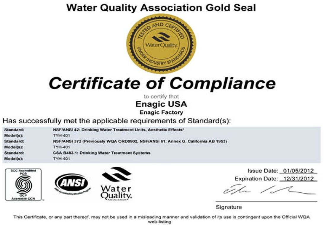 Kangen is the only ionizer company in the world to be awarded the kangen is the only ionizer company in the world to be awarded the wqa for water 1betcityfo Choice Image