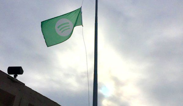 Flag At Half Mast At Spotify Headquarter For David Bowie Half Mast Flags At Half Mast Wind Sock