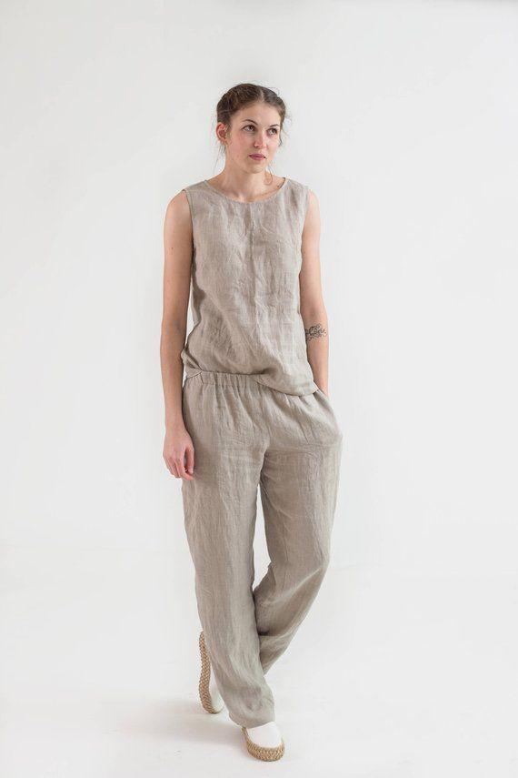 Women's Casual Linen Pants, Linen