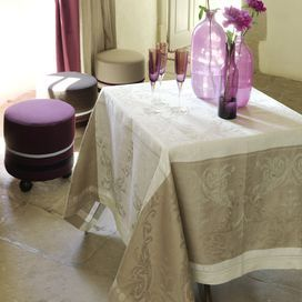 Bring Parisian flair to your dining room decor with this très chic table linen, perfect for highlighting summer centerpieces and gourmet-worthy spreads.  Product: TableclothConstruction Material: LinenColor: Taupe