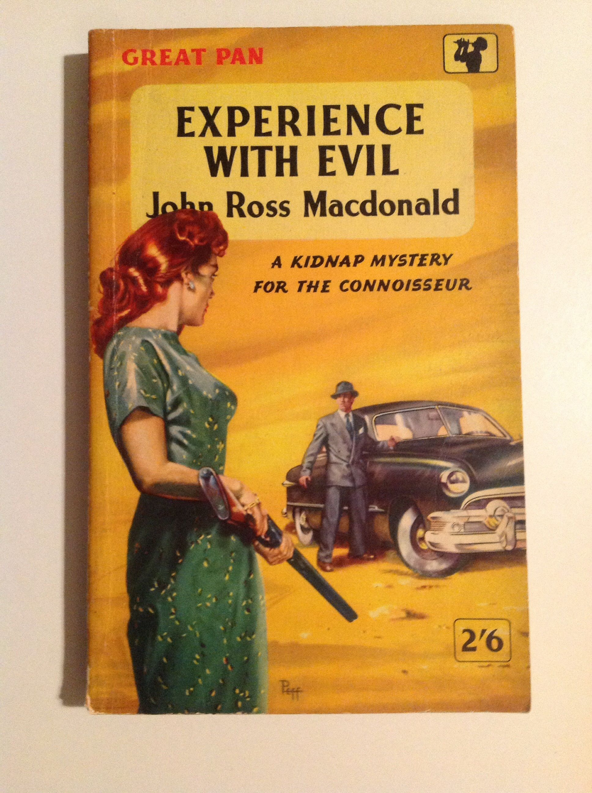 Experience with evil ross macdonald crime book cover