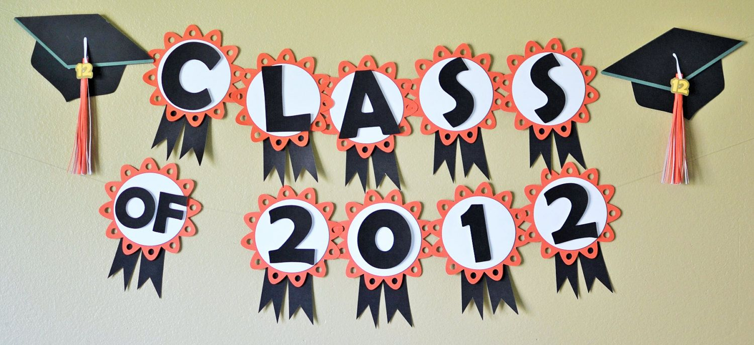 graduation party decorations custom colors por bcpaperdesigns