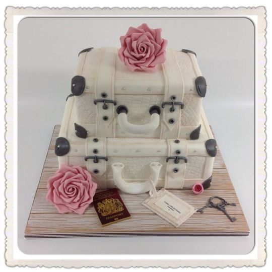 Vintage Suitcase birthday cake. | london case | Pinterest ...