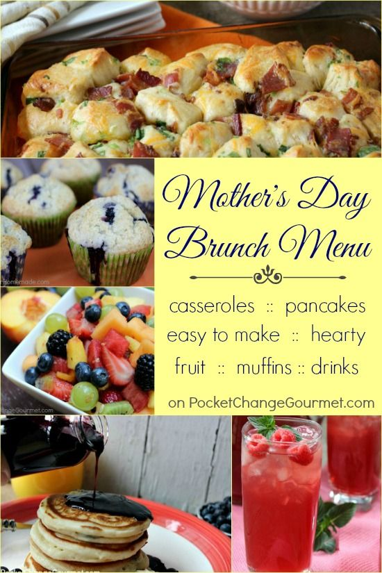 Mother's Day Brunch Menu | Mother's Day Recipes | Mother's ...