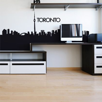 Add some modernity combined with class and simplicity to your interior with the toronts rooftops wall