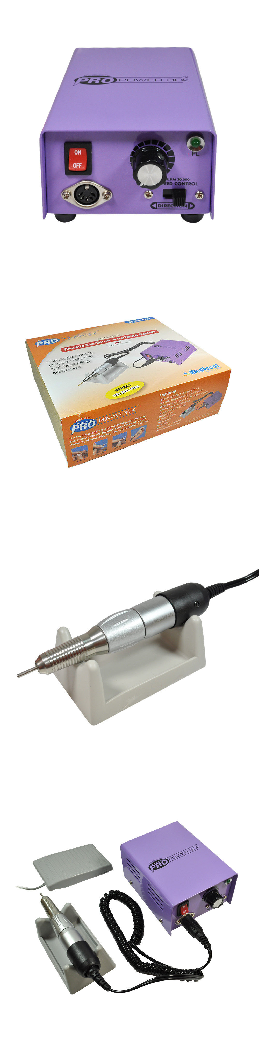 Manicure Pedicure Tools and Kits: Medicool Propower Pro Power 30K ...