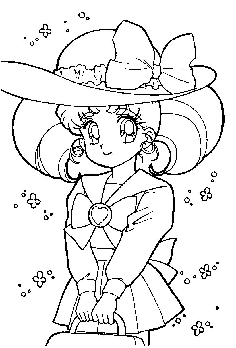 Chibiusa Coloring Pages Chibi Usa Coloring Pages for Girls Cute ...