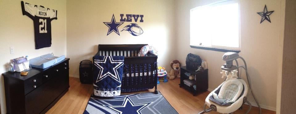 Pin By Dallasgirl627 On Dallas Cowboys Dallas Cowboys Nursery Baby Boys Nursery Themes Sports Baby Boy Room Decor
