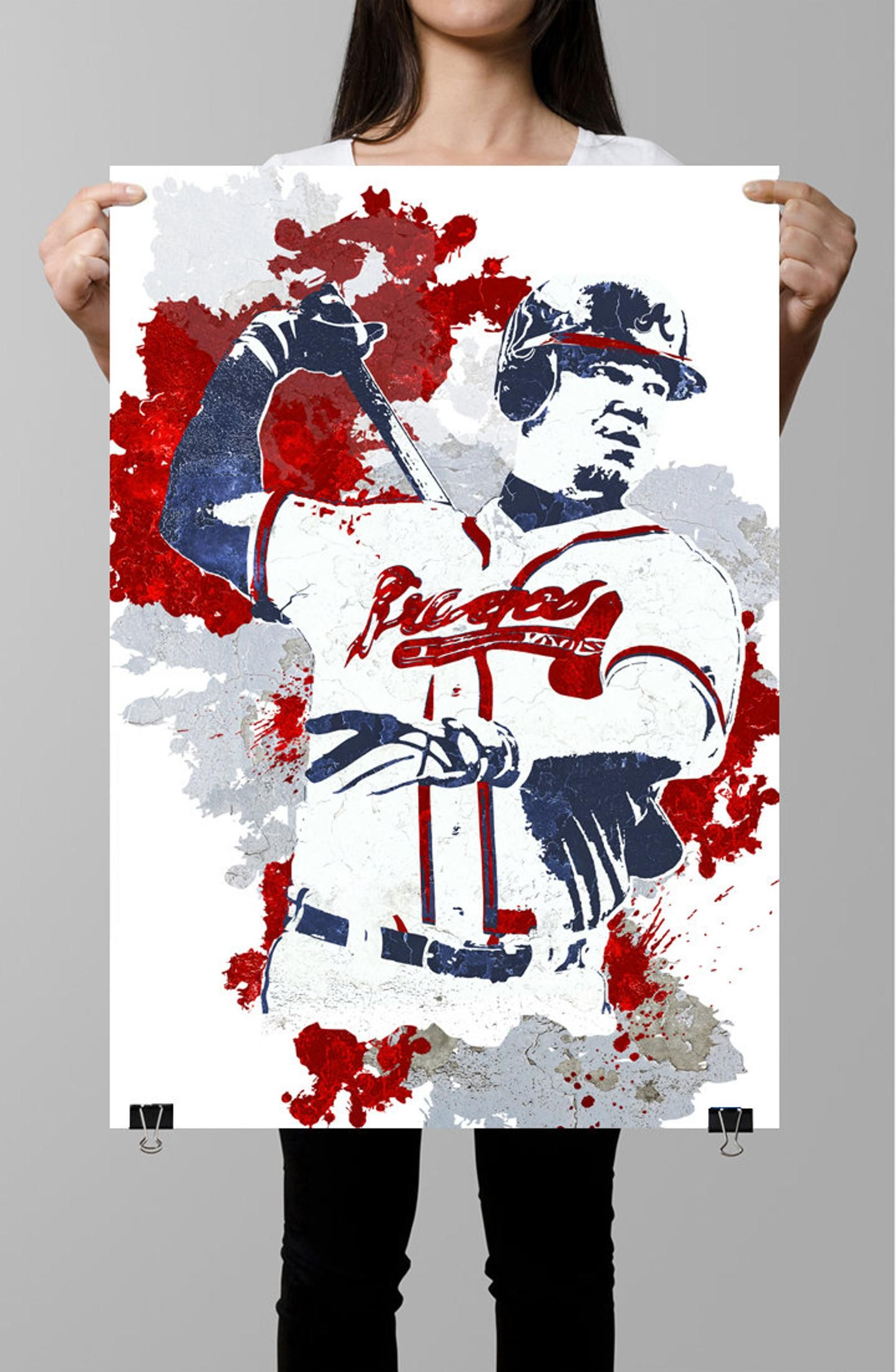 Chipper Jones Atlanta Braves Sports Poster Fan Art Wall Art Etsy Atlanta Braves Chipper Jones Braves
