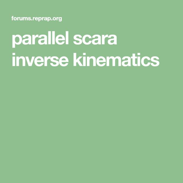 parallel scara inverse kinematics | arduino motors | Arduino motor