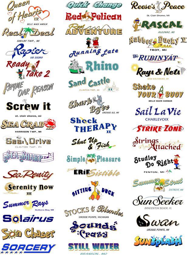 Boat Names  Pinteres - Vinyl decals boat names