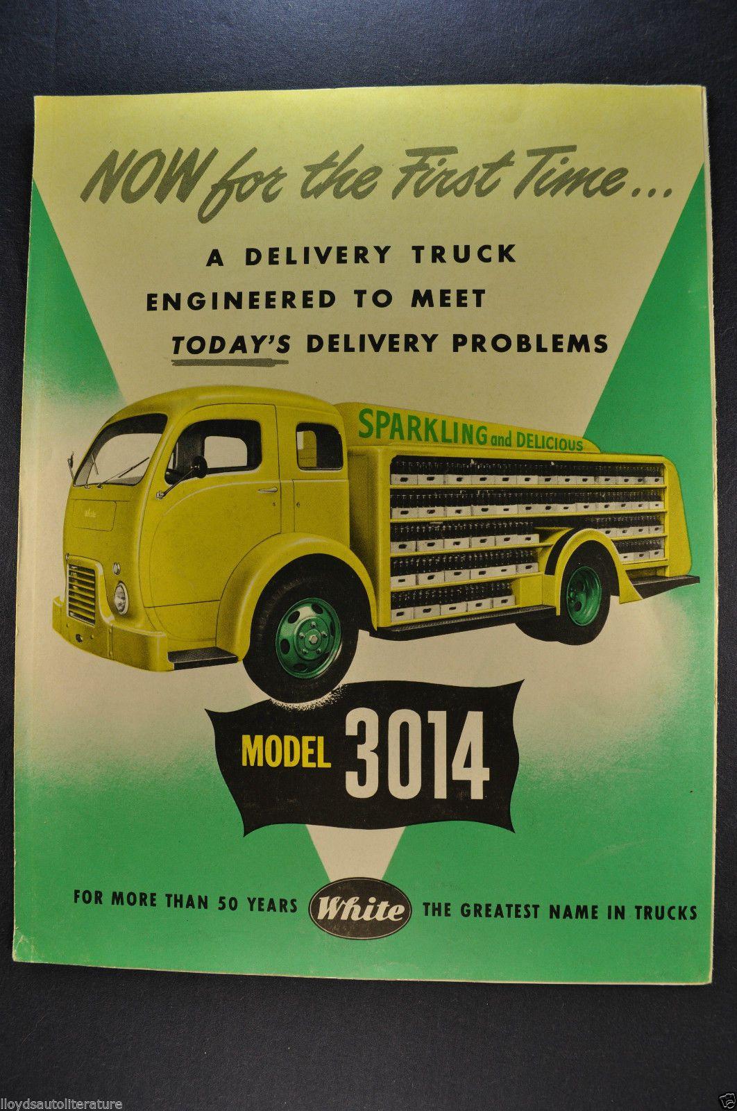 White Trucks Model  Sales Brochure Coe Cab Over
