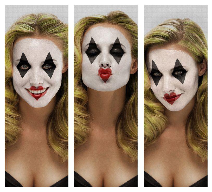 Sexy Harlequin Makeup