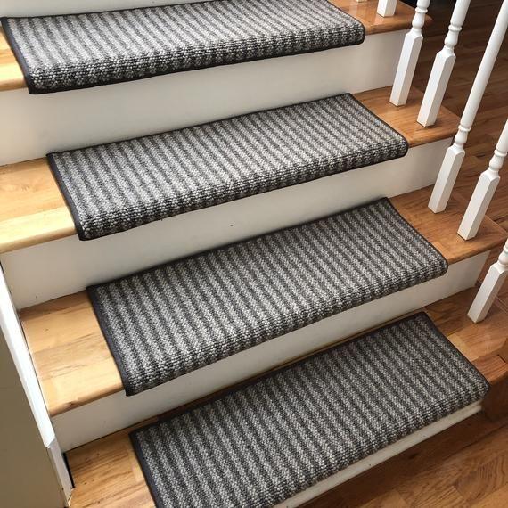 Best Bozeman 100 Wool True Bullnose™ Padded Carpet Stair Tread 640 x 480