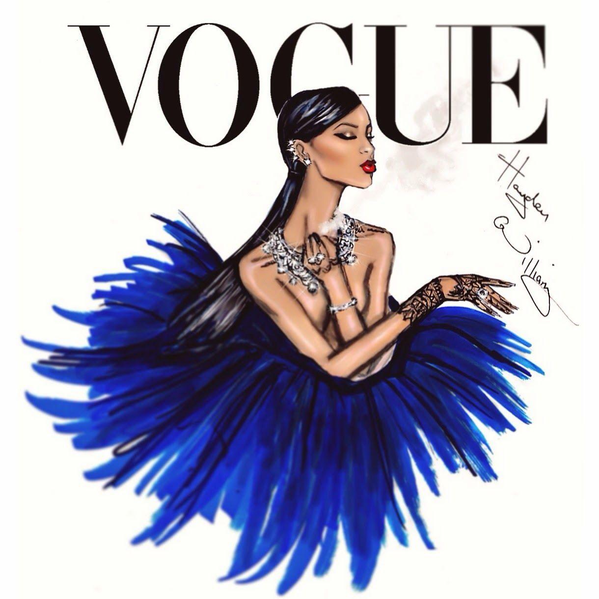 #Hayden Williams Fashion Illustrations #Rihanna 'Diamond Ball' by Hayden Williams