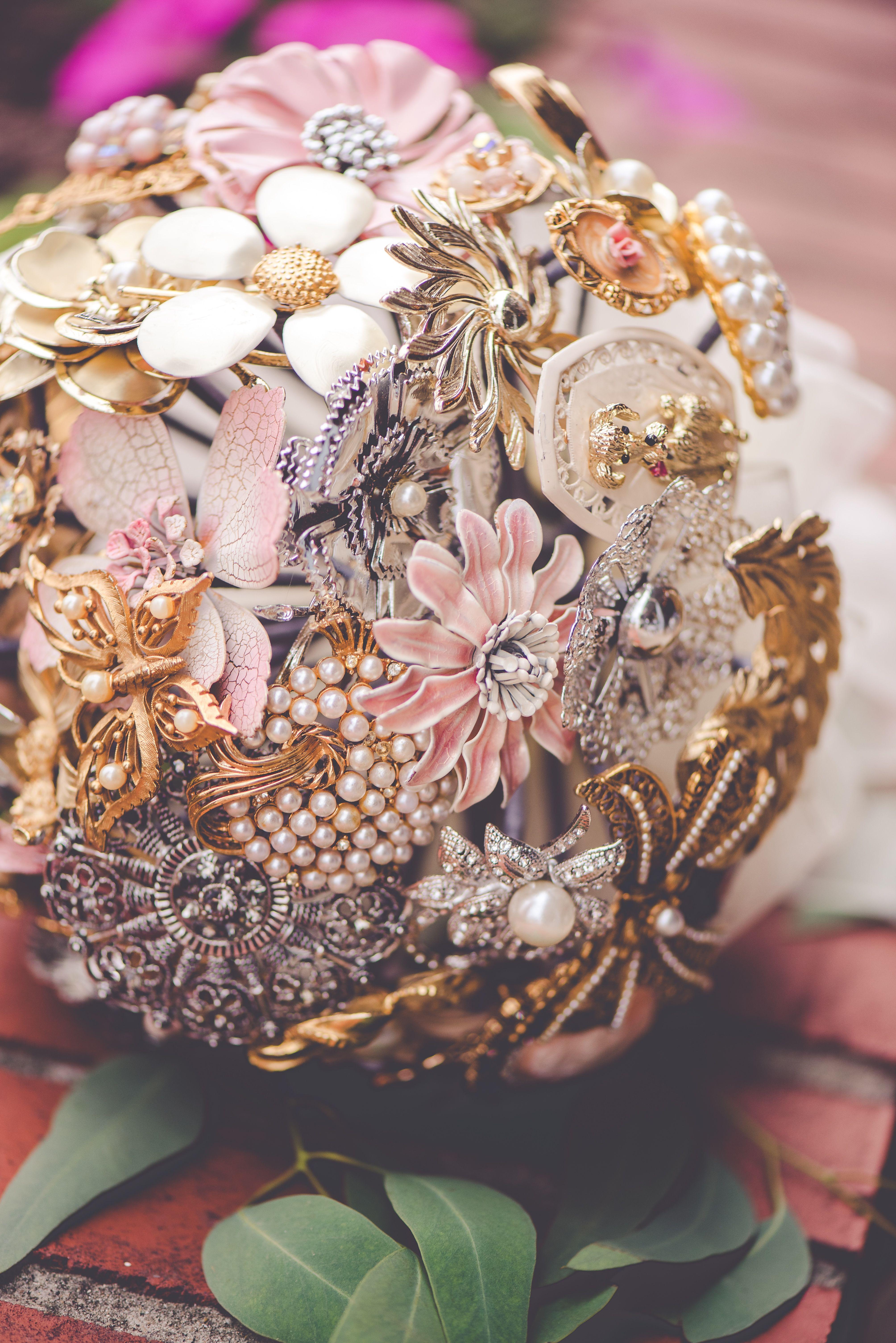 Custom bridal bouquet by jewels by terri b wwwfacebook