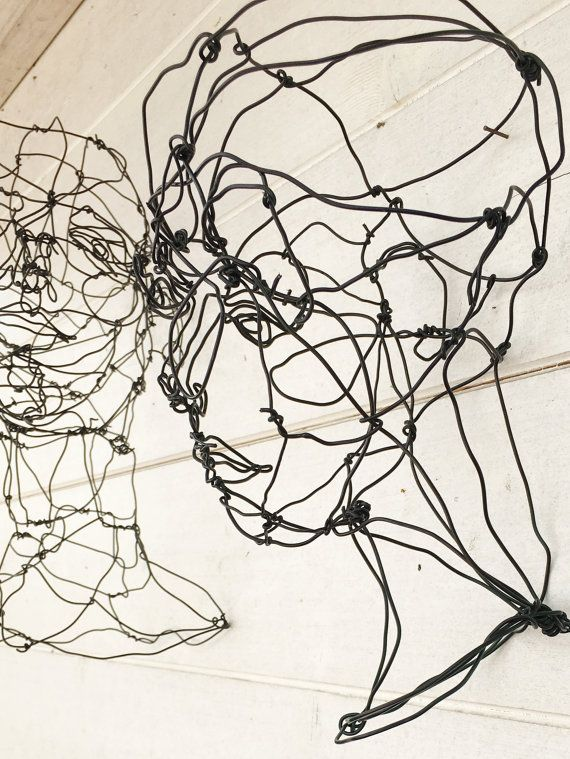 3d Wire Sculpture Woman Bust Sculpture Wire By Morphingpot Wireart