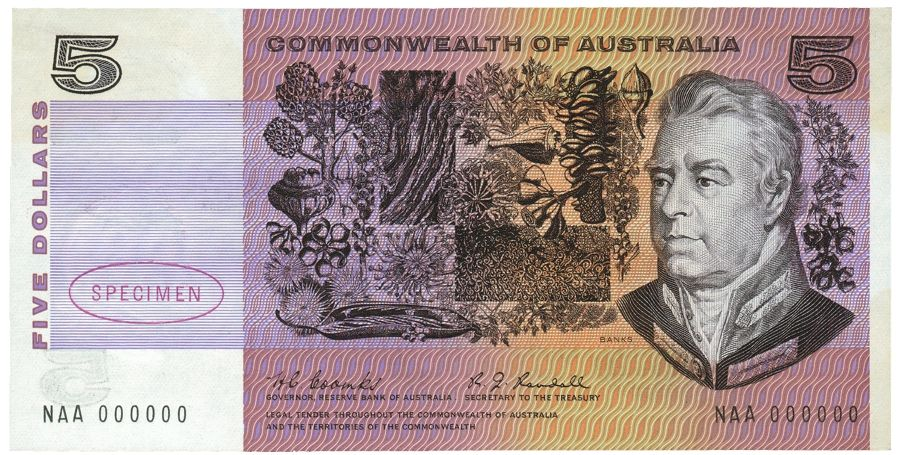 The Trade Archive Bank notes, Dollar banknote, Australia