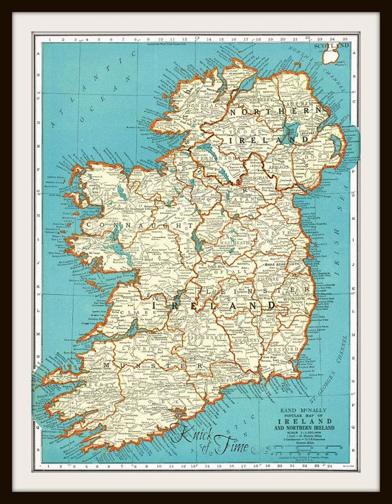 Antique Map IRELAND DENMARK Map Page Buy Maps Get - Buy historical maps