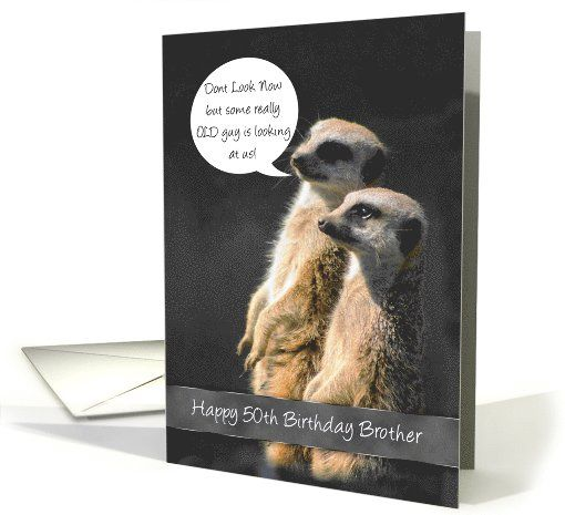 Meerkat 50th Birthday Card For Brother Card 1100820 Brother