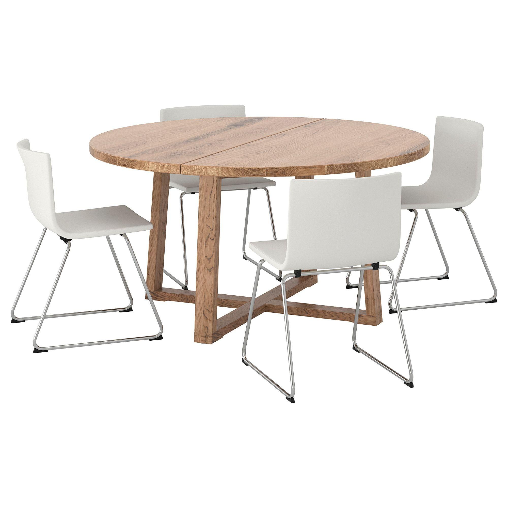 Morbylanga Bernhard Table And 4 Chairs Oak Veneer Brown Stained Mjuk White Ikea Furniture Coffee Table Ikea [ 2000 x 2000 Pixel ]