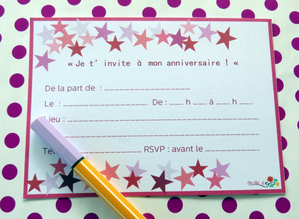 Carte D Invitation Anniversaire Fille 10 Ans Elegant Carte